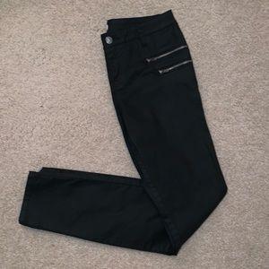 Forever 21 Zippered Black Jeans